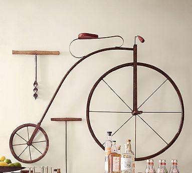 High Wheel Bicycle Wall Art #potterybarn - $399 | Art | Pinterest ...