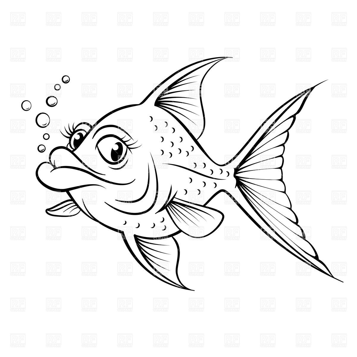- Simple Fish Drawing Outline Images & Pictures - Becuo Cartoon