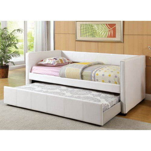 Stylish Martina Leatherette Daybed with Twin Trundle - Daybeds at Hayneedle