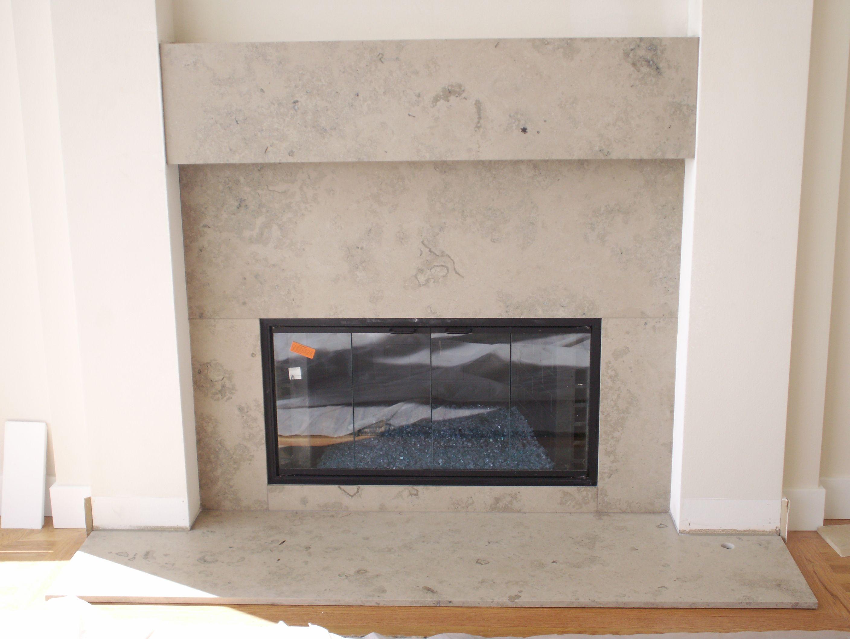 Limestone Tile Fireplace Google Search Limestone Fireplace Surround Fireplace Fireplace Surrounds