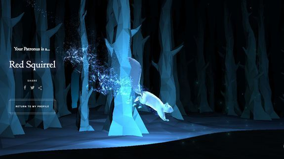 Wonder what your Patronus is? Now you can find out on Pottermore