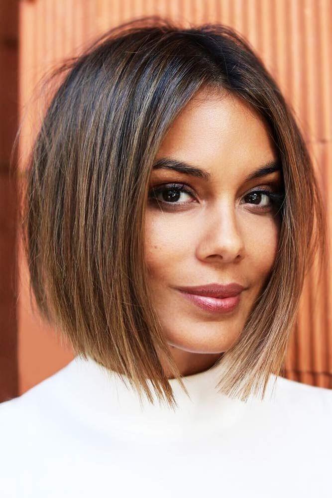 Happy Fall 2019 Haarschnitt Kurz Haarschnitt Frisuren Ovales Gesicht