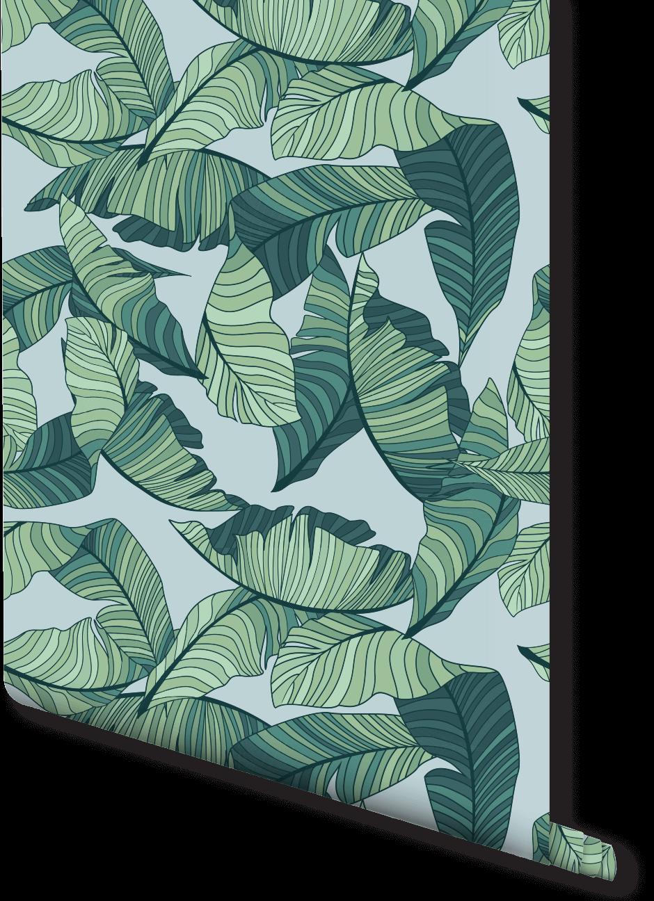 Illustrative Banana Leaf Wallpaper | Milexa