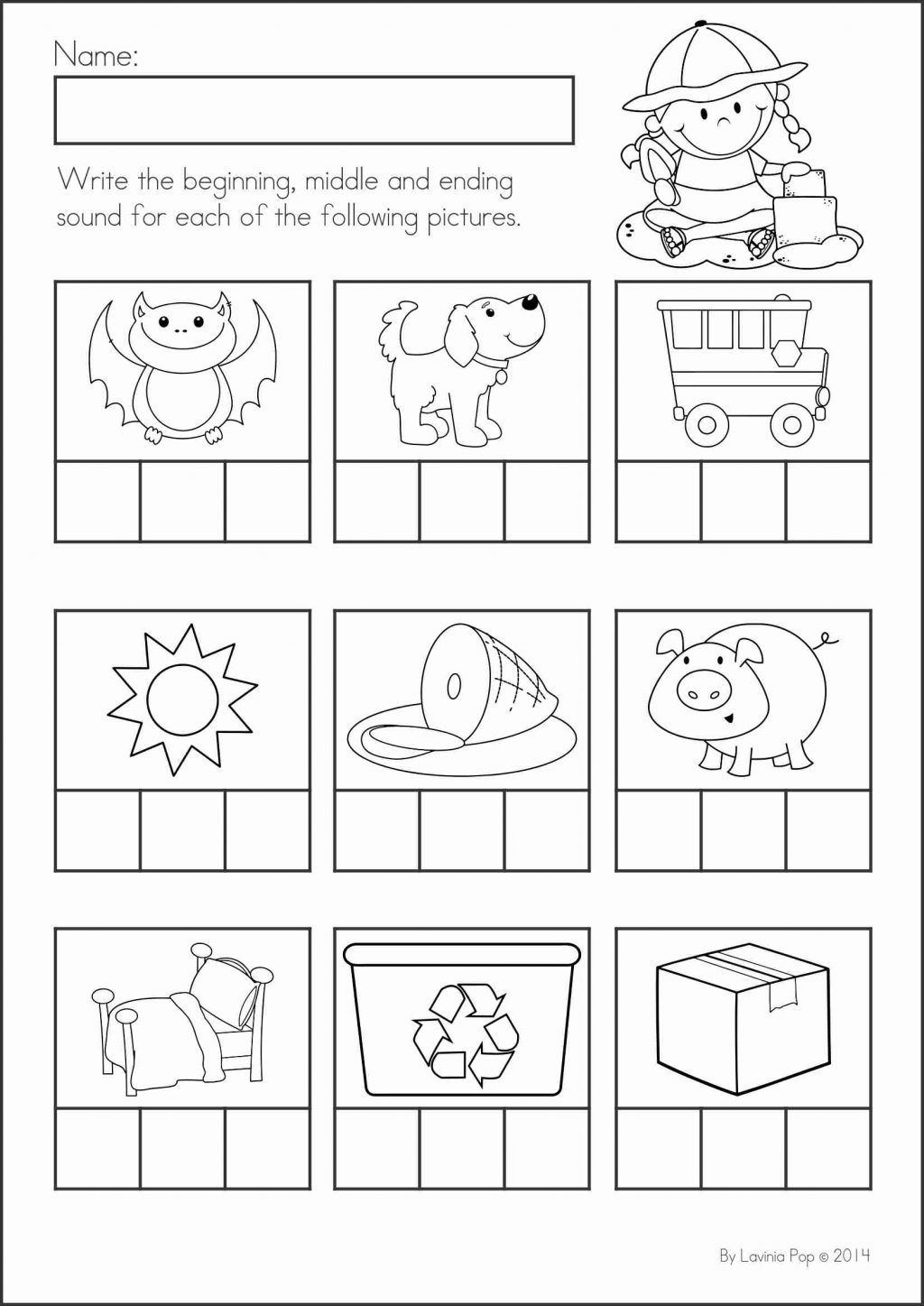 Cvc Worksheets For Kindergarten Math Activities Words