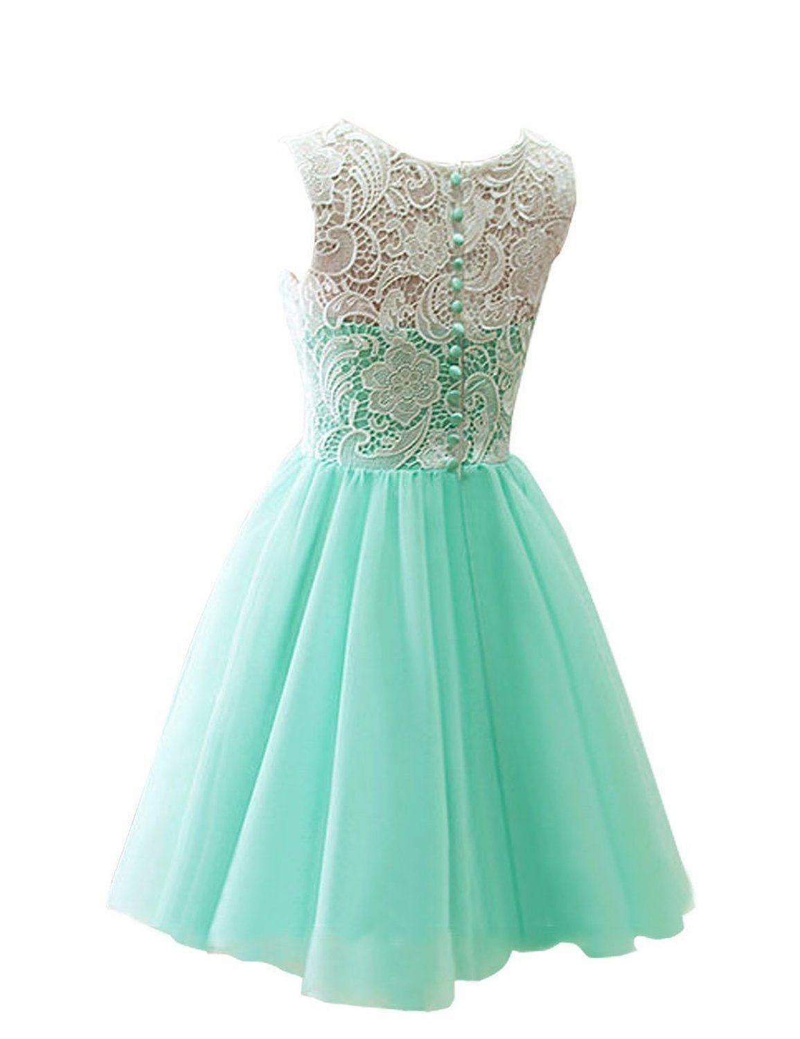 Amazon.com: MicBridal® Flower Girl Ball Gown Lace Ruched Short Prom ...