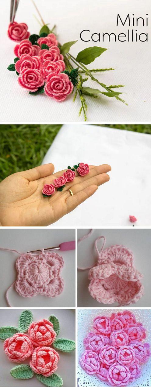 Mini Camellia - step by step Tutorial #flowerpatterndesign