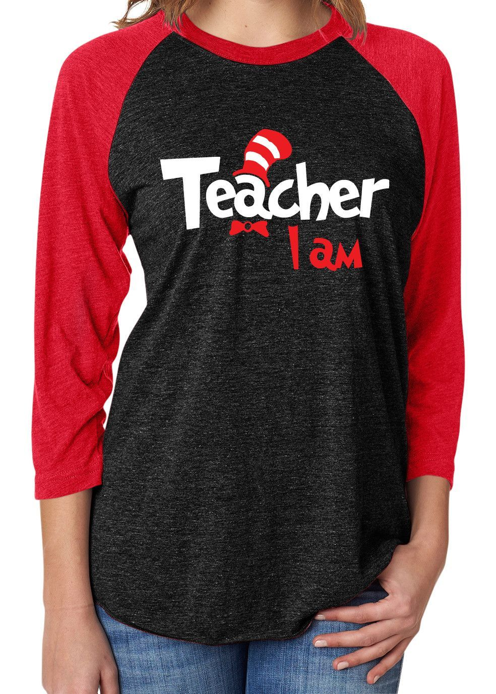 a58bdb2ad Shown on a Vintage Black and Red Raglan with Red and White Matte Decoration.