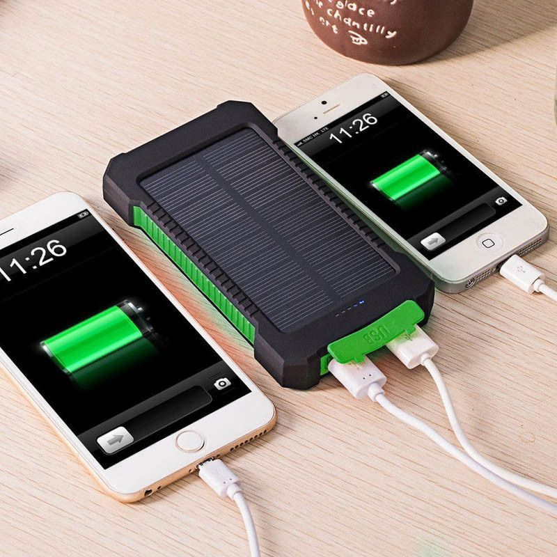 Universal USB Waterproof Dual Charge Solar Power Bank & LED