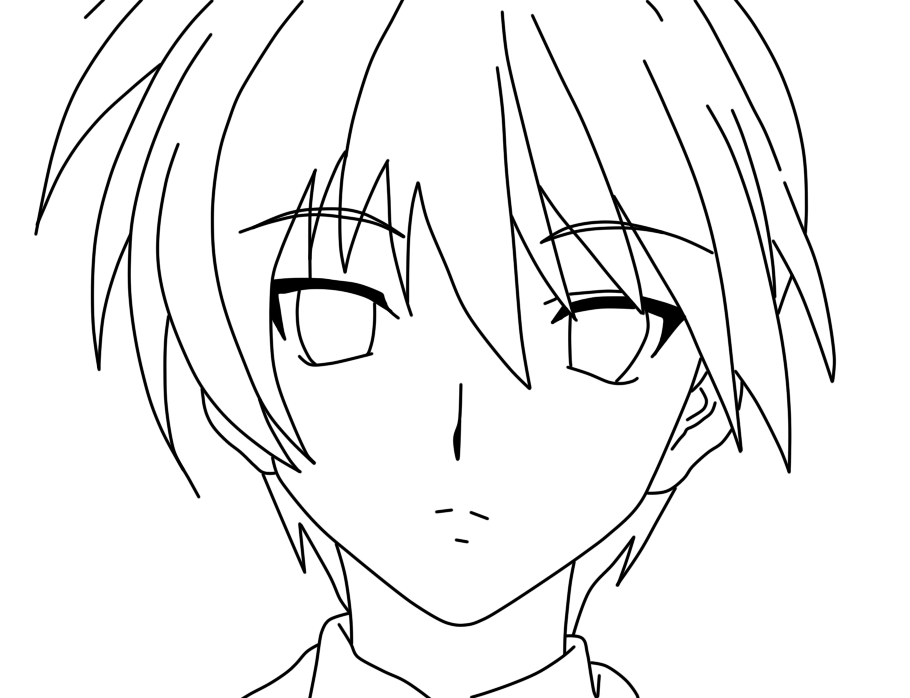 online anime coloring pages anime online free coloring pages on masivy world draw