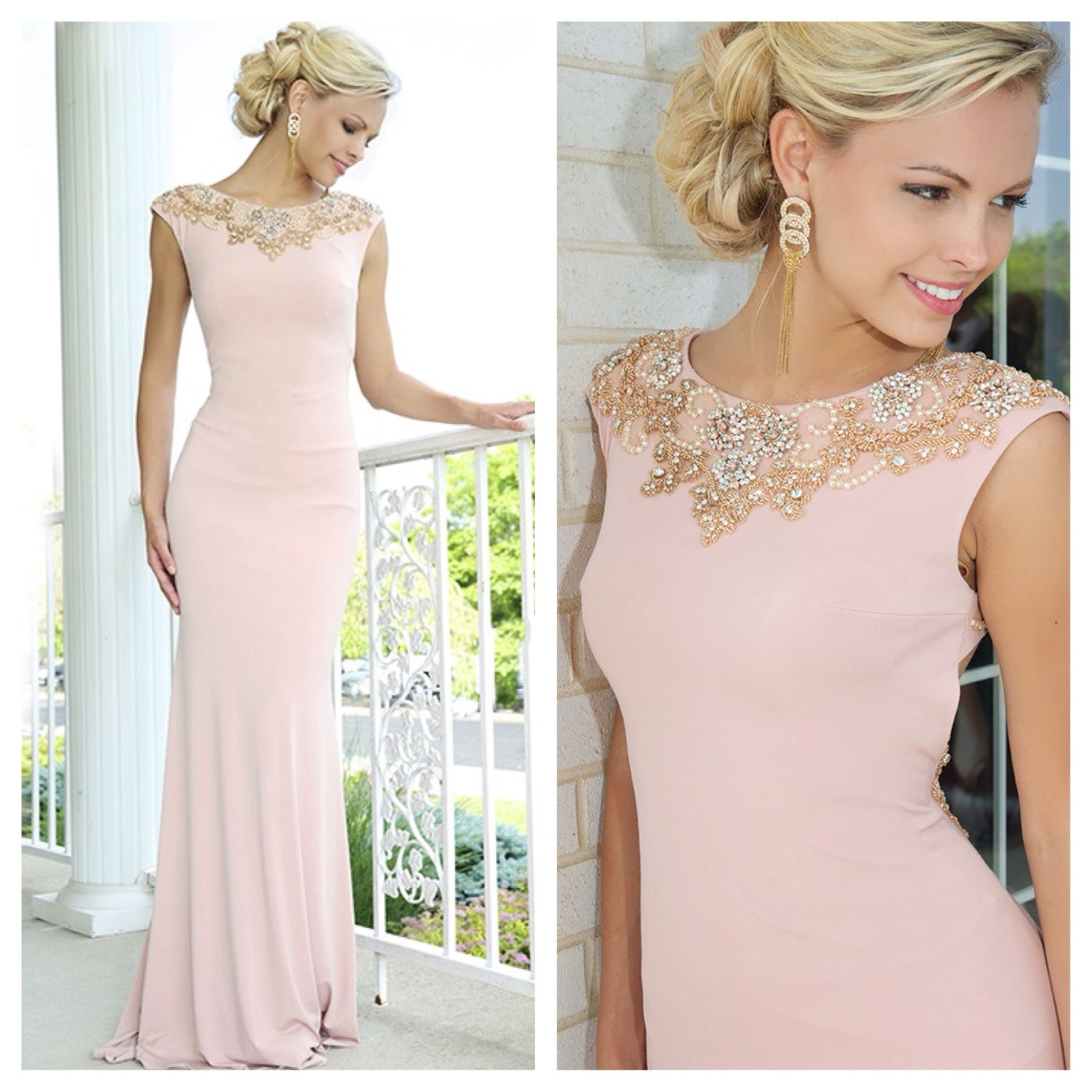 38ec07bdb4b Jovani Style 99112 Stunning cap sleeve form fitting jersey prom dress  features beaded embellishments and a