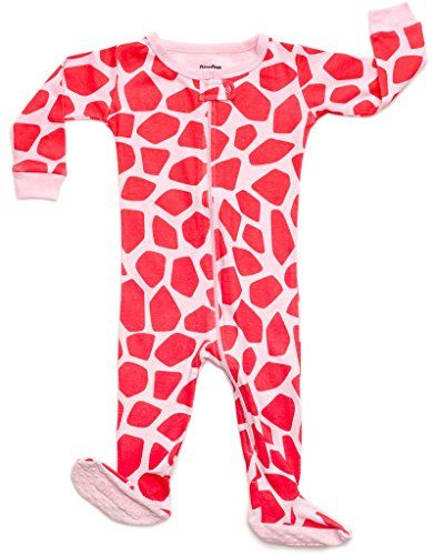 DinoDee Baby Girls Giraffe Footed Sleeper Pajama 100% ...