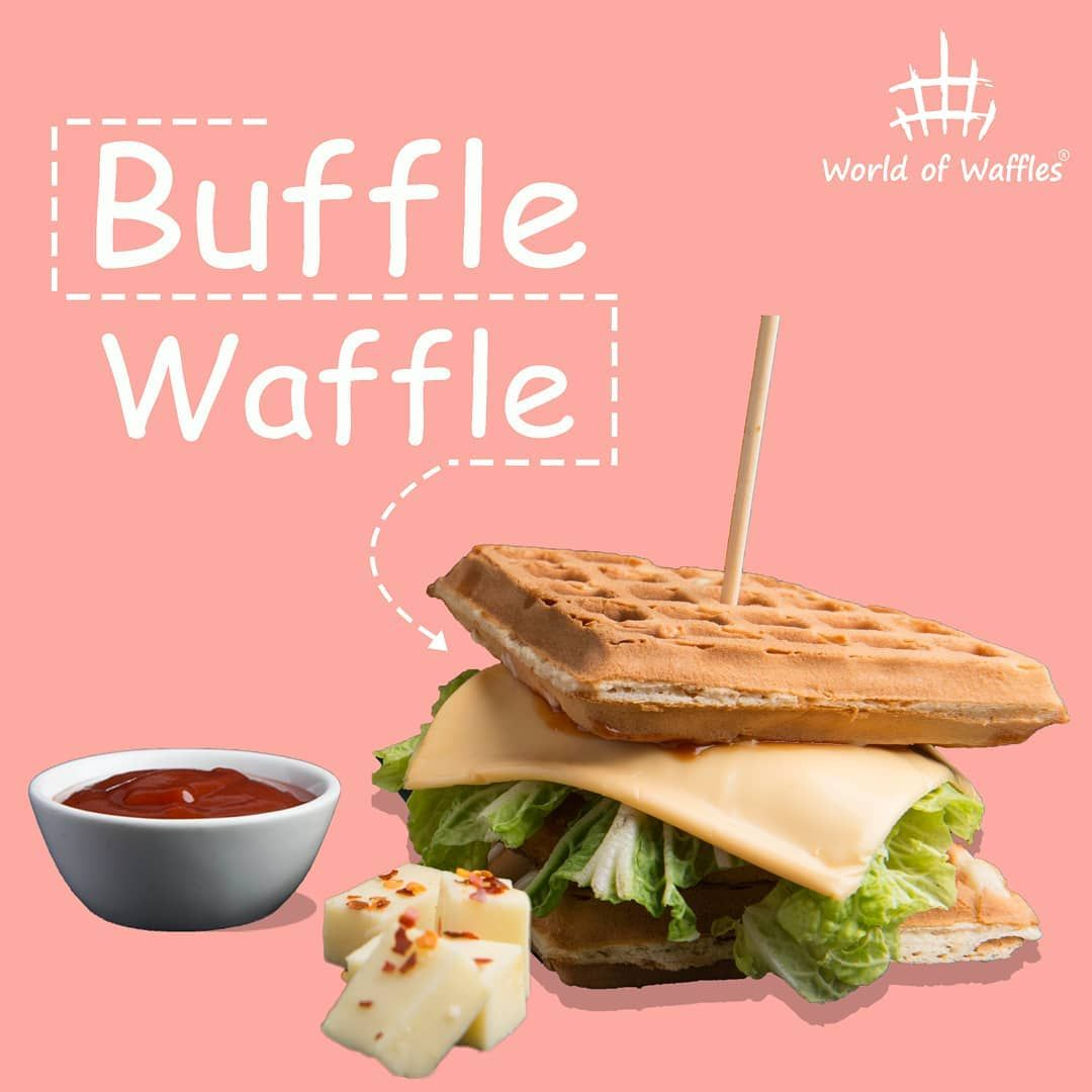 The Buffle Waffle Fusion is the answer to your hunger confusion . . . .