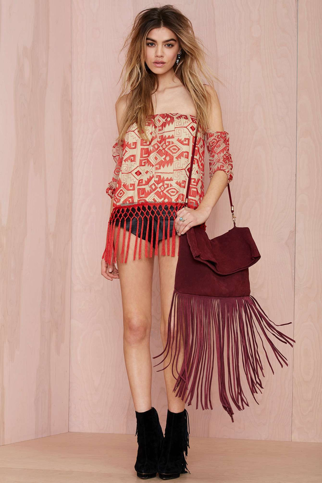 Line & Dot Other World Embroidered Top | Shop What's New at Nasty Gal