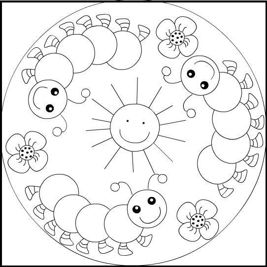 Mandalas Para Colorear Infantiles Presenta Una Seleccion De Cinco