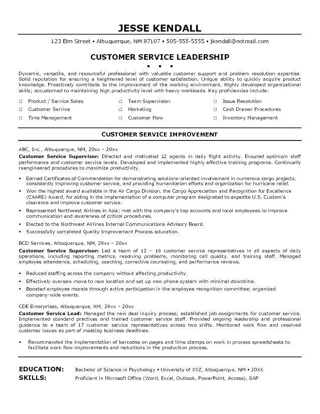 75 Luxury Stock Of Call Center Supervisor Resume Objective