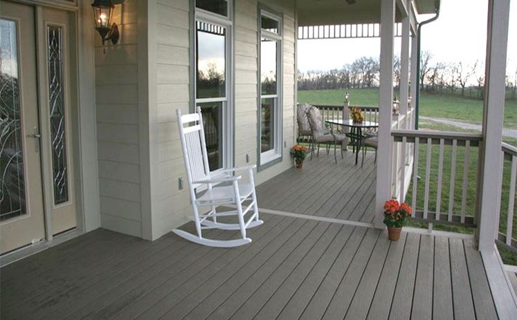 Shown In Beach House Gray Back Porch Designs Composite