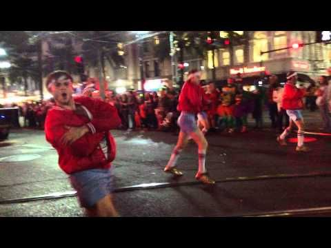 New Orleans Halloween Parade. They had so many dancing troups! I have a few videos, not sure which ones will upload correctly. Love these guys. :D