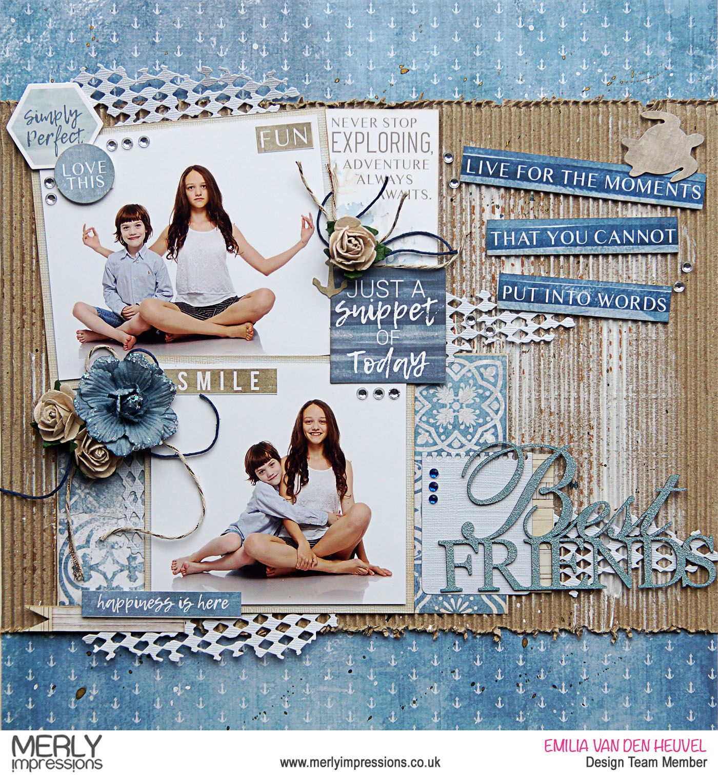 Best Friends Merly Impressions Kaisercraft Friend Scrapbook Scrapbook Page Layouts Photo Scrapbook