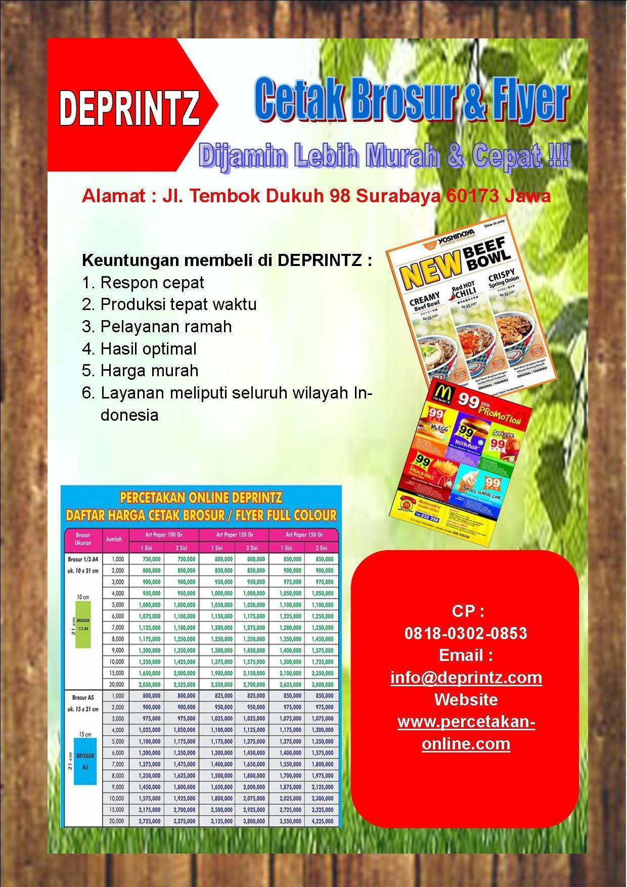 Call Wa 0818 0302 0853 Brosur Iklan Dijamin Murah Jasa Cetak