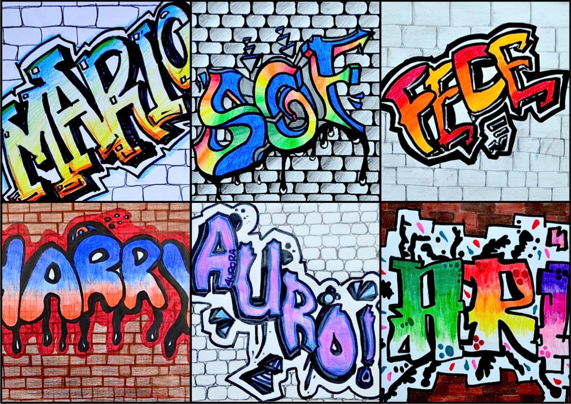 The Eighth Graders Have Received With Great Enthusiasm The Proposal To Write Their Name In Graffiti Style Even Though At The Beginning They Did Not Think