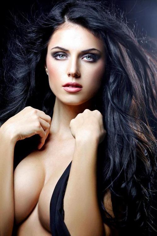 Brunette busty dark