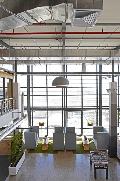 offices by inhouse brand architects features  waiting room inside shipping container also rh pinterest