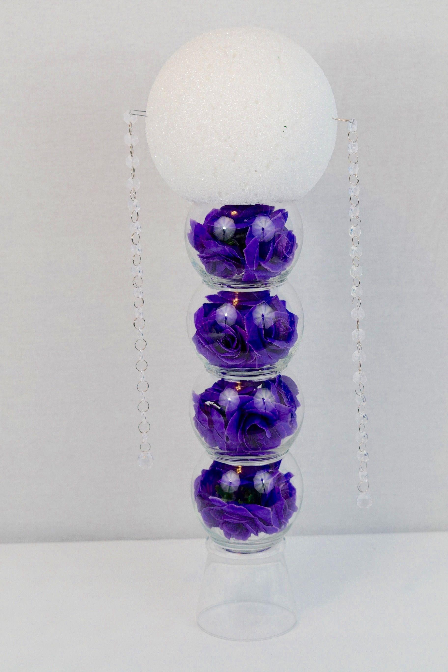 DIY Purple Passion Wedding Centerpiece in 3 Easy Steps | Diy wedding ...