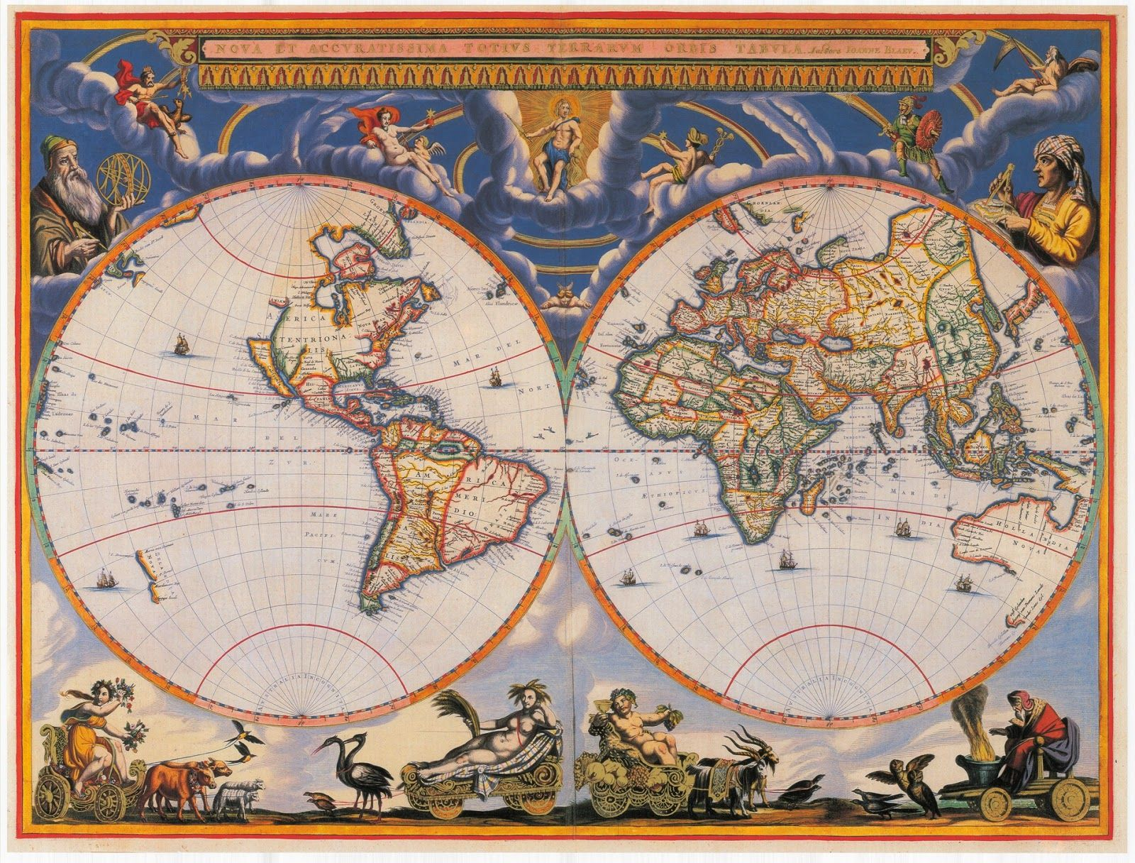 World map 17th century description high resolution world map made world map 17th century description high resolution world map made by the dutch cartographer joan blaeu in 1662 gumiabroncs Image collections