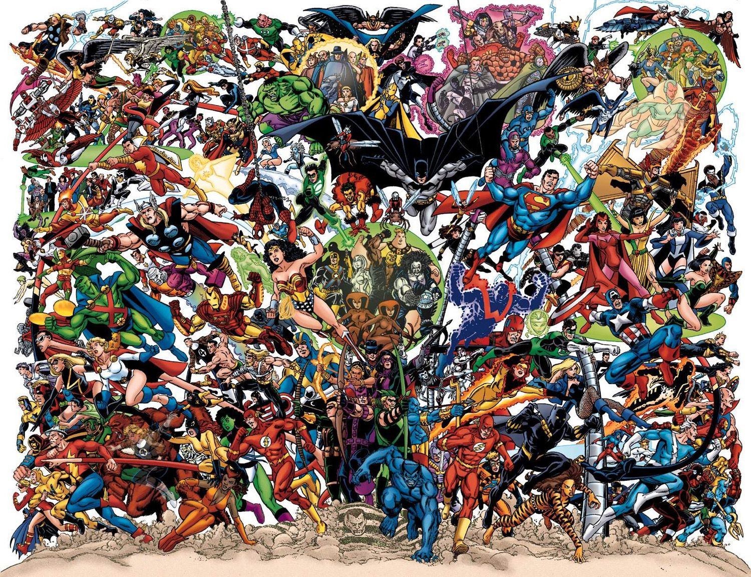 All the #superheroes you can think of in one place