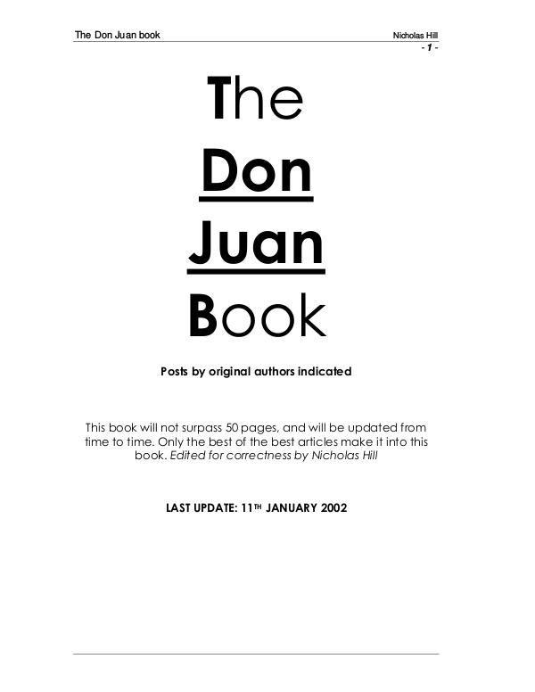 Download The Don Juan Book