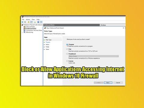 block internet access windows 10 firewall
