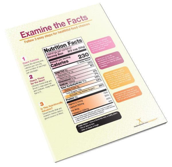 New Food Label Handout Tearpad   Products   Food labels, New