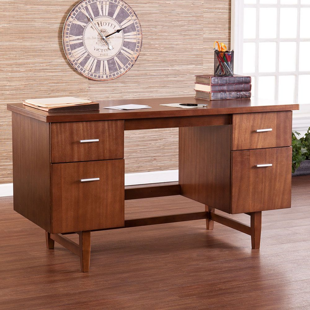Trends On A Budget Midcentury Modern Officefurniture Com Wood Writing Desk Mid Century Modern Patio Furniture Mid Century Modern Furniture