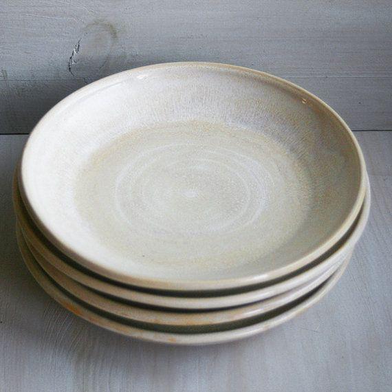 Handmade rustic dinner plates. & Handmade rustic dinner plates. | Dining Room | Pinterest | Rustic ...