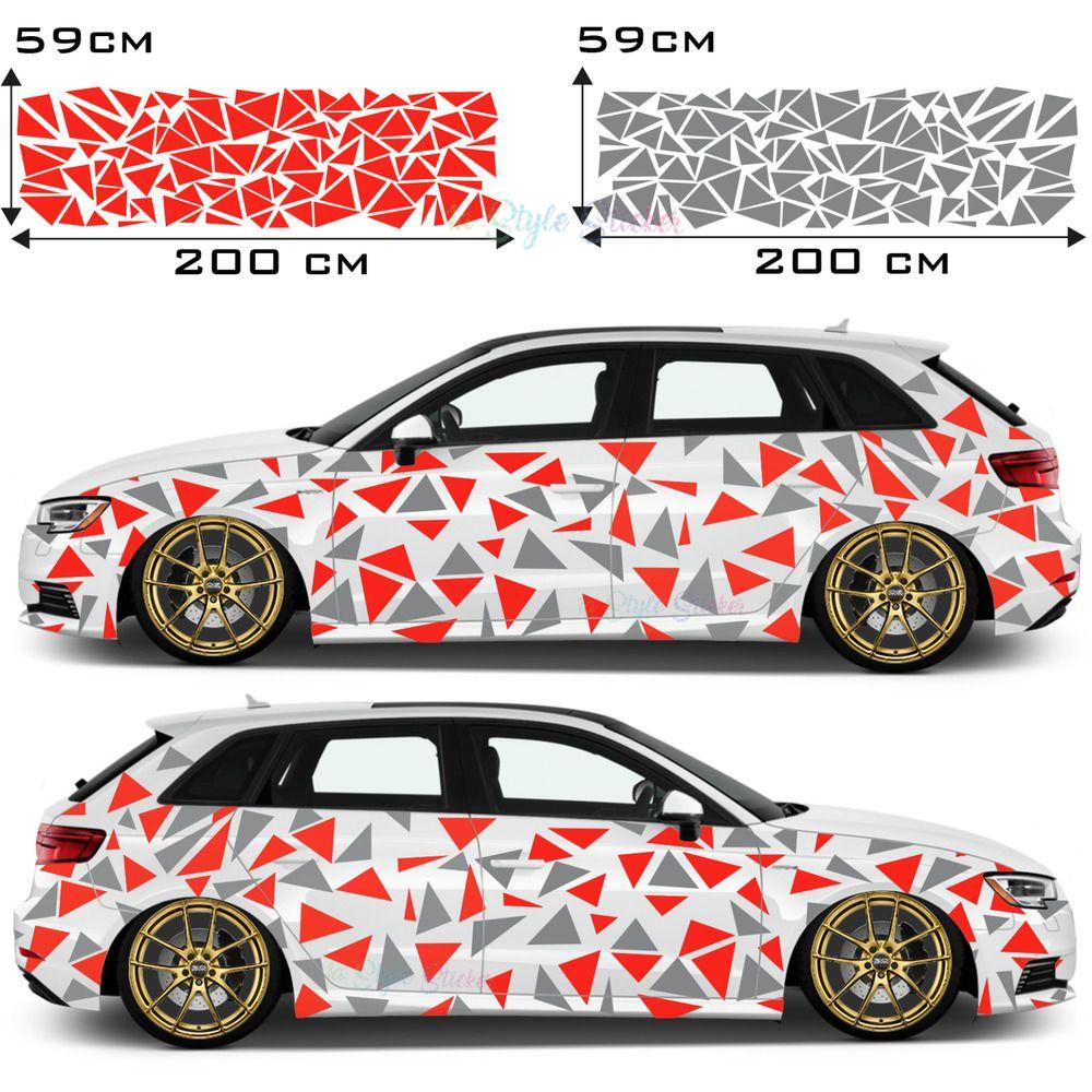 Details Zu Auto Aufkleber Seitenaufkleber Decor Dreiecke Car Tattoo