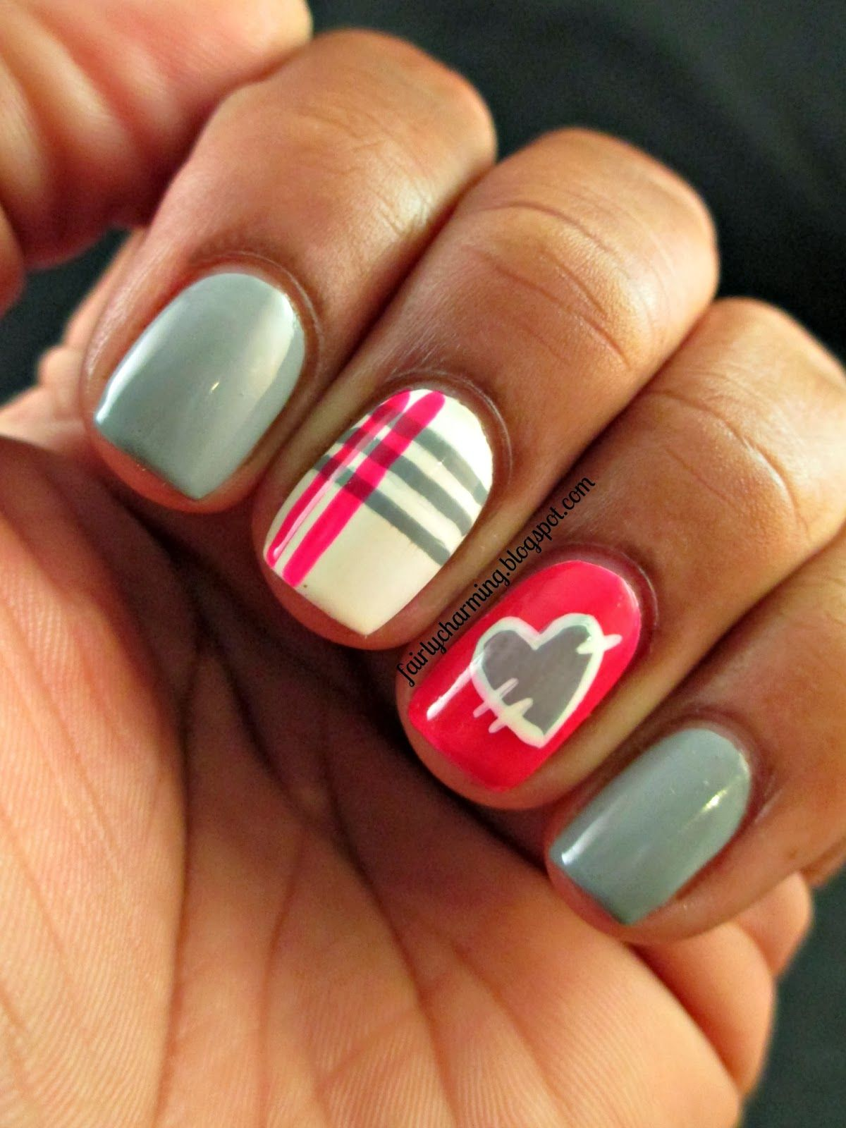 Royal Nail Icing Sweet Concrete Strawberry Lava Plaid Patchwork