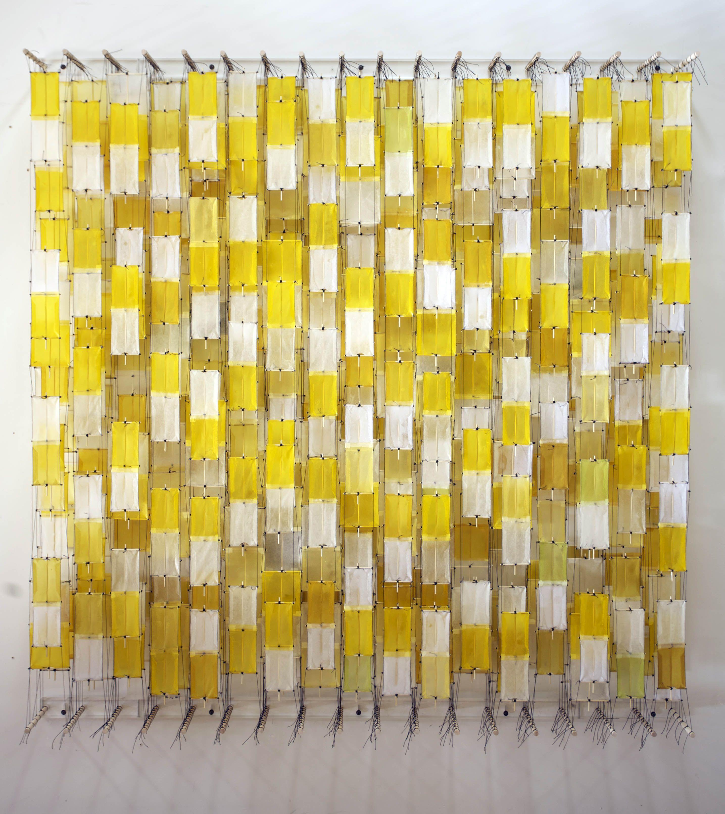 Jacob Hashimoto, field of yellow blocks. | jacob hashimoto ...