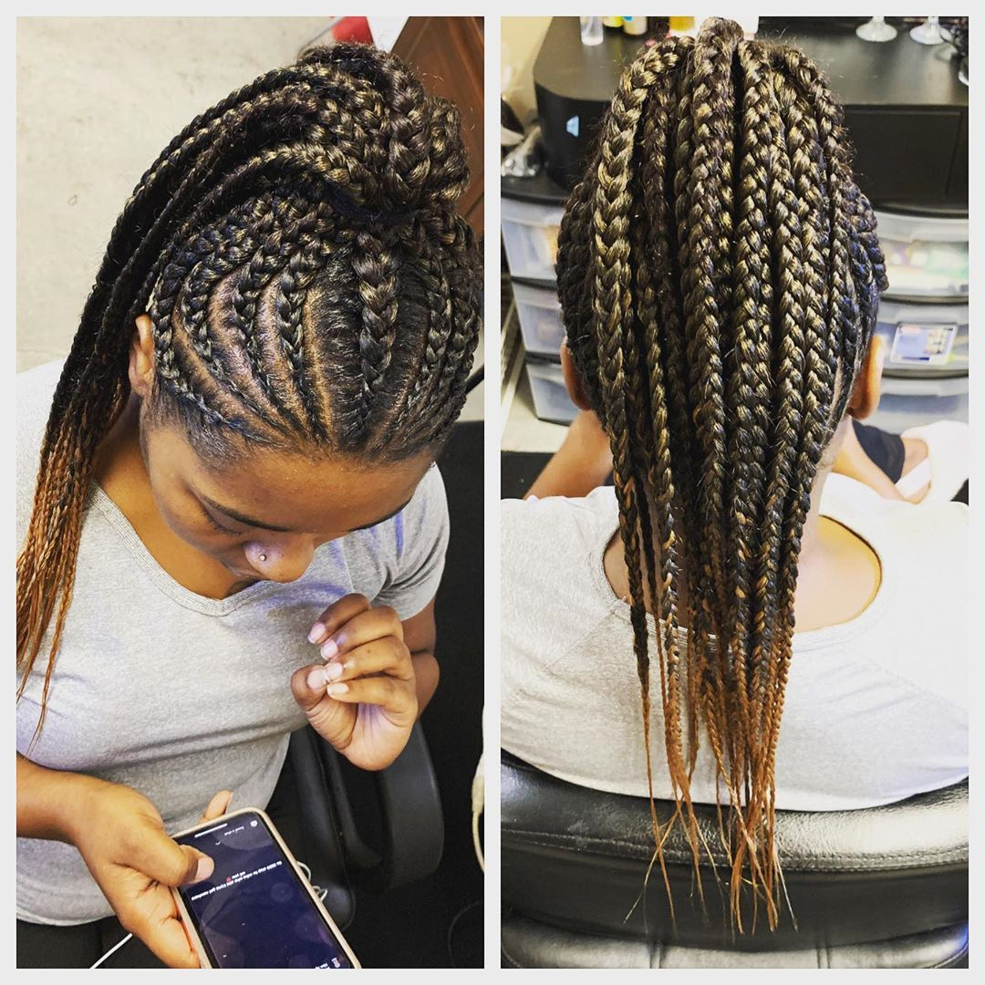 Pin On Ponytails Hairstyles For African American Women