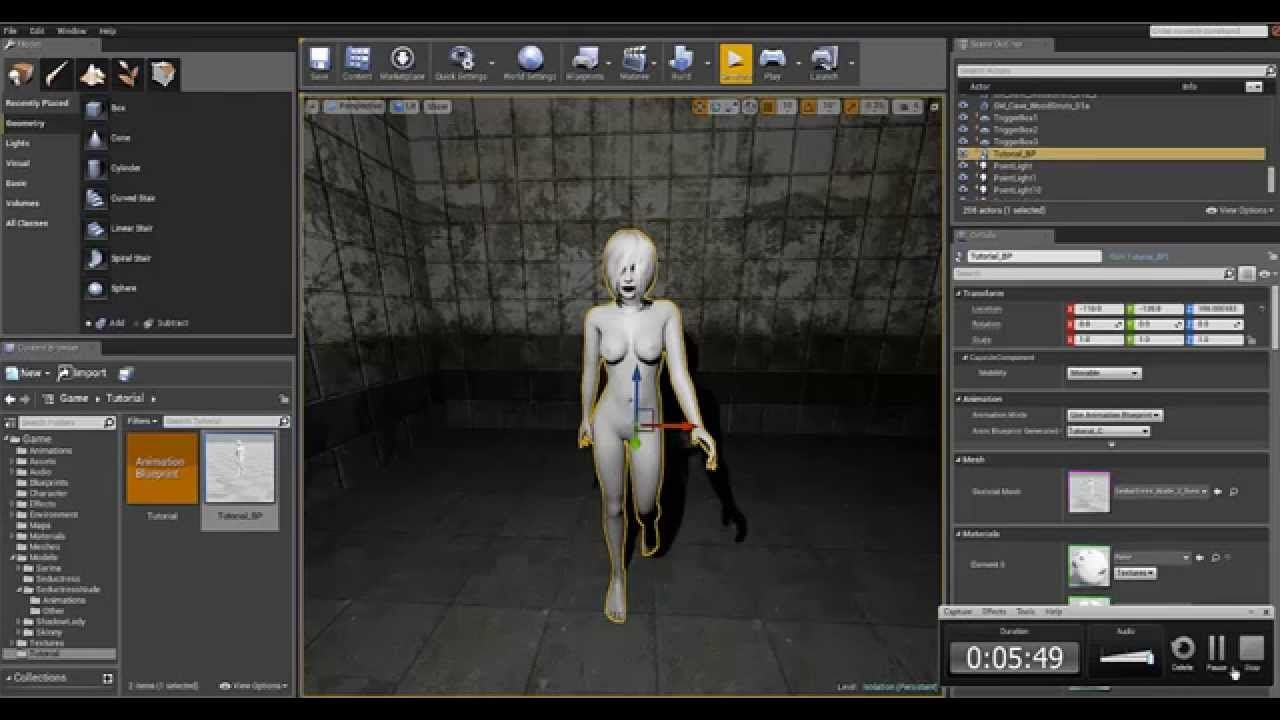 Spring Joint Tutorial, Unreal Engine 4 | Game Design Tutorials ...