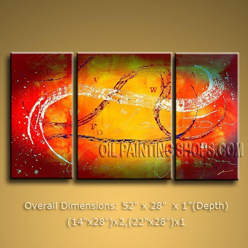 Hand Painted Elegant Modern Abstract Painting Wall Art Inner Framed ...