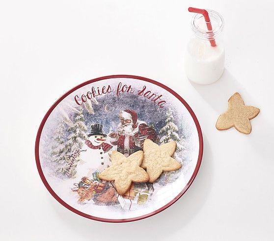 Cookies For Santa Plate And Jug Set Cookies For Santa