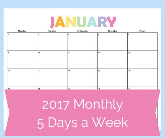 Printable Calendar  Day Calendar  Day Weekly Planner Teacher