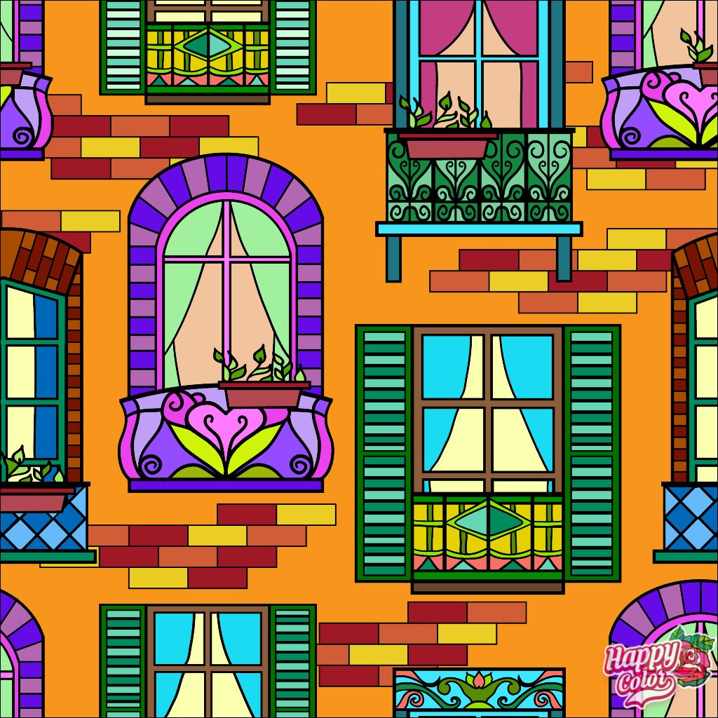 Artful Windows Happy Colors Coloring Apps Glass Art Pictures