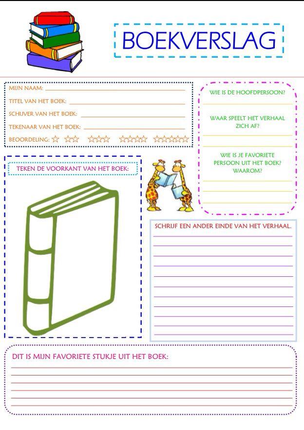 format boekverslag. | skool | elementary schools, kids education, school