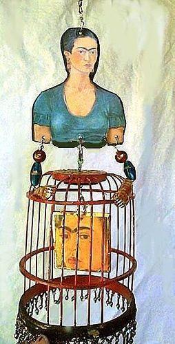 milla azul bird in a cage