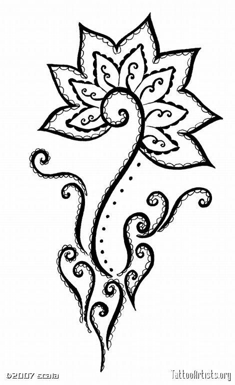 Mehndi Style Flower Tattoo Artists Org Henna Drawings Flower Henna Henna Patterns