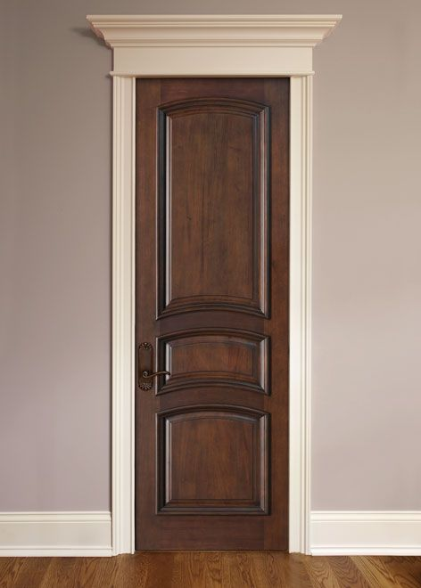 Mahogany Solid Wood Front Entry Door Single Stain And Paint