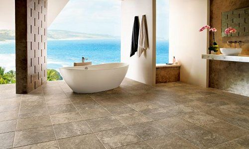 How Cool Is This Luxury Vinyl Tile Classico Travertine