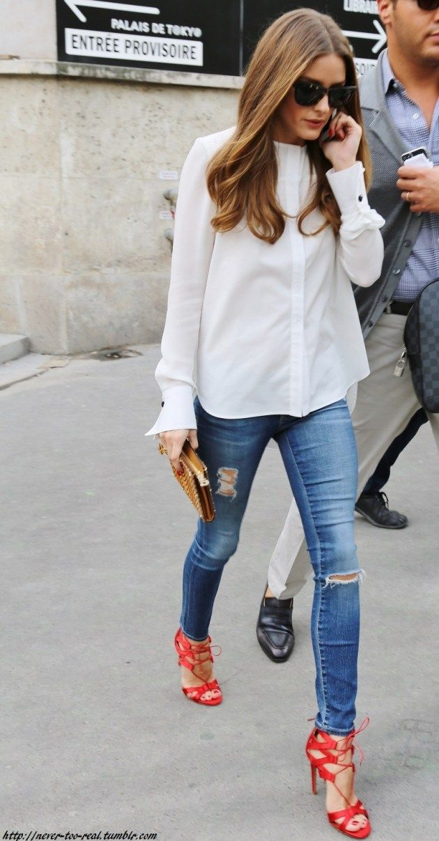 Style Inspiration: Olivia Palermo in Deconstructed Denim
