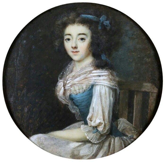 Portrait de Jeanne Levasseur, soeur de Louis Augustin Levasseur - banc en pierre pour jardin